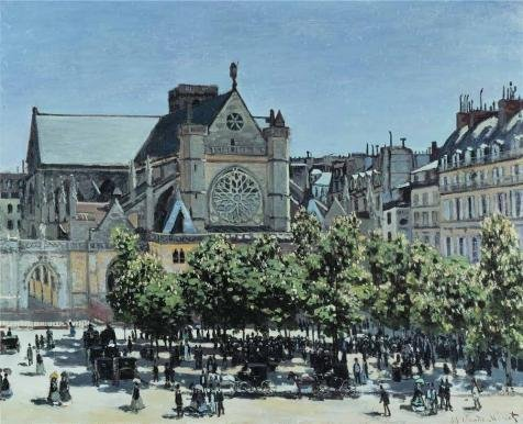 'Claude Monet - St. Germain L'Auxerrois A Paris,1867' Oil Painting, 18x22 Inch / 46x56 Cm ,printed On Perfect Effect Canvas ,this High Quality Art Decorative Canvas Prints Is Perfectly Suitalbe For Garage Gallery Art And Home Decor And Gifts