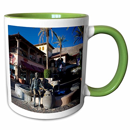 3dRose Danita Delimont - California - North Palm Canyon, Palm Springs California - US05 JMO0033 - Jerry and Marcy Monkman - 11oz Two-Tone Green Mug - California Palm Outlet Spring