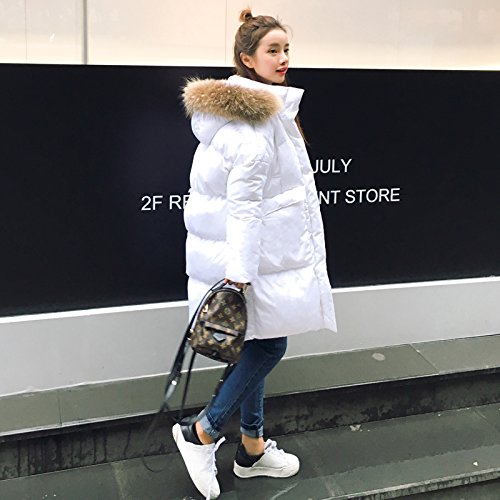 The Cotton Section creamy Cotton Loose Loose Collar In Clothing Thick Of Cashmere Long Xuanku Winter white Feather EAZnxqP11