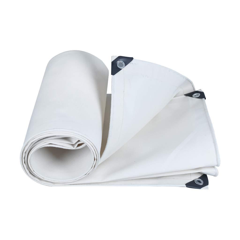 ホワイトヘビーデューティ防水タープ、防雨日焼け止め厚い断熱材は、耐性キャンバス、屋外カバーとキャンプ用に着用してください (サイズ さいず : 4x4 m) 4x4 m  B07H1HCCR1