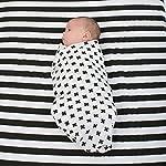 Muslin-Baby-Swaddle-Blankets-47×47-3-Pack-Black-White-XO-Stripe-Cross