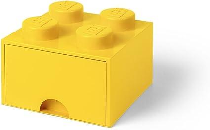 Room Copenhagen-Lego Ladrillo 4 pomos, 1 cajón, Caja de almacenaje apilable, 4,7 l 40051732: Amazon.es: Juguetes y juegos