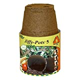 PLANTATION PRODUCTS Jp508 Round Peat Pot, 5-Inch, 6-Pack