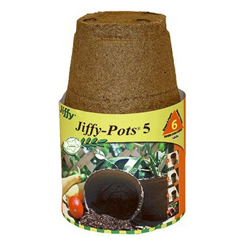 PLANTATION PRODUCTS Jp508 Round Peat Pot, 5-Inch, 6-Pack ()