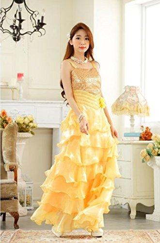 Principessa Lungo Da Prom Cocktail Sposa Swing Yellow Big Plaer Sera Fresh Abito 5Sc4LA3jRq