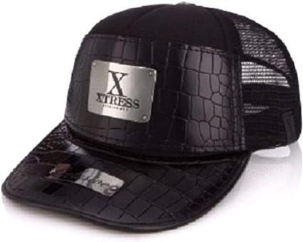 Xtress Exclusive gorra negra de cuero para hombre y mujer ...