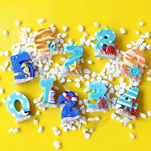 Amazon.com: Vela para tartas de cumpleaños. Ocean, Sea Theme ...