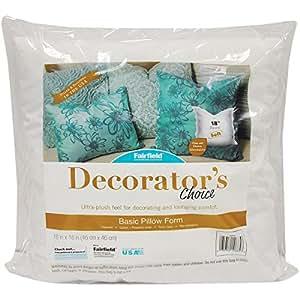 "Fairfield DCP18 Decorator's Choice Luxury Pillow Form, 18"" x 18"", White"