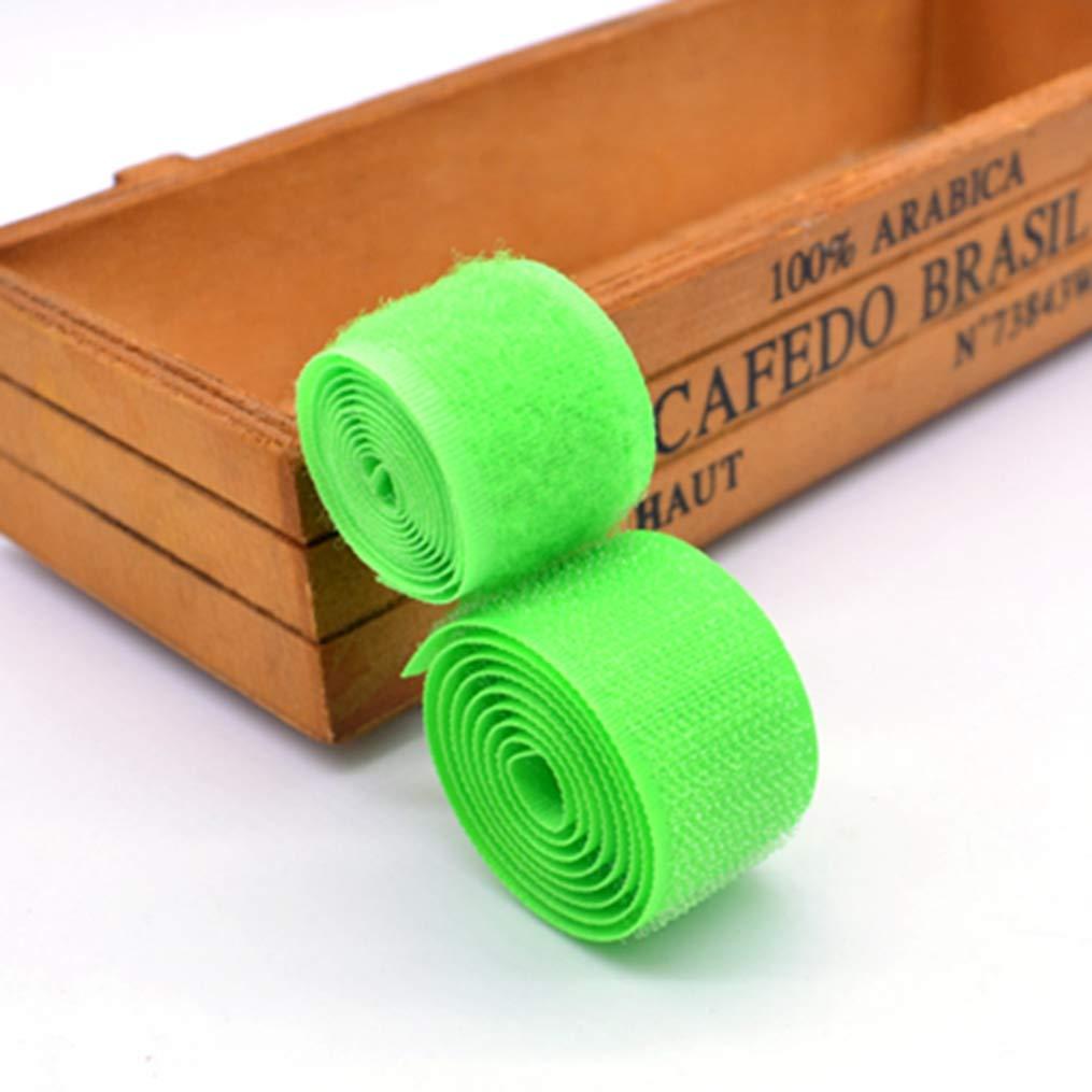 Hook&Loop ブランド 25MM 2重/ロット カラフル 縫い付け カラフル ファスナー テープ リボン ホーム 衣類 バッグ 靴 アクセサリー DIY MS002-25  Green 205 B07GJ9X54S