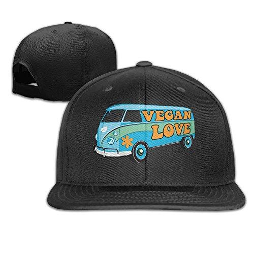 (Yishuo Mens The Vegan Love Bus - Women's Fashion Travel Black Hats Adjustable)