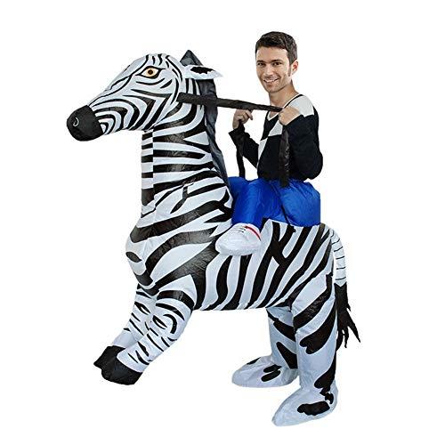 Easy Zebra Halloween Makeup (LSGNB Halloween Adult Cosplay Zebra Giraffe Inflatable Cartoon Animal Activity Show Party Props Suit Masquerade (Color : Zebra, Size :)