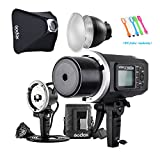 Godox AD600BM Bowens Mount 600Ws GN87 High Speed Sync Outdoor Flash Strobe Light Monolight with AD-H600B 600W Flash Head/ 32''X32''Softbox /7'' Standard Reflector &Diffuser/ Portable Flash Bag