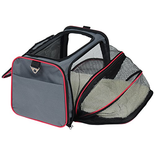 WOLTU Expandable Soft-sided Pet Carrier Pet Tote for Cats Small Dogs and Puppies,Grey