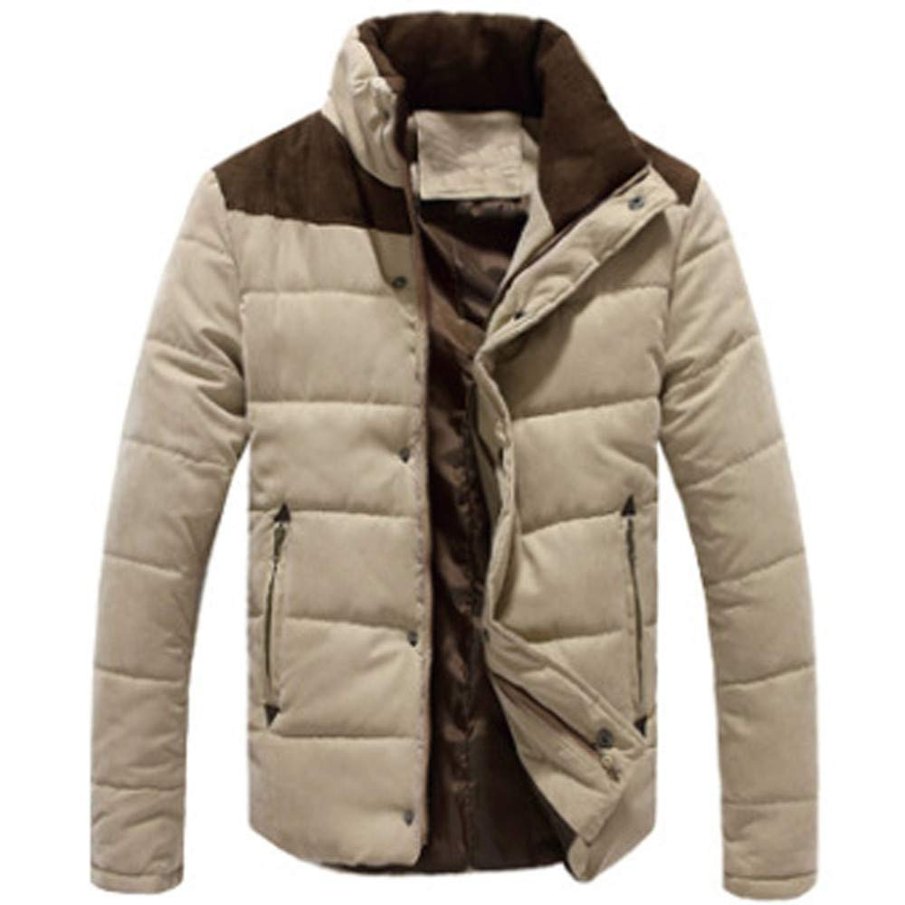 Allywit Men's Warm Winter Jacket Cotton Sports Quilted Coat Outerwear Big and Tall by Allywit (Image #1)