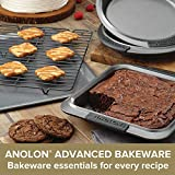 Anolon Advanced Nonstick Bakeware Meatloaf/Loaf Pan Set with Grips and Insert, 2 Piece, Gray