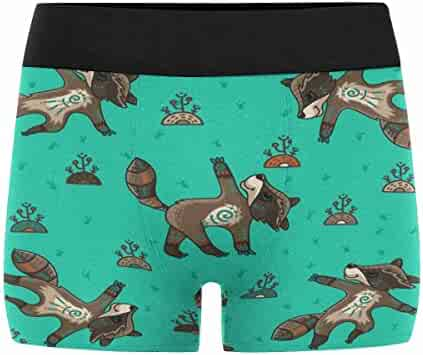 XS-3XL INTERESTPRINT Custom Mens Boxer Briefs Elephant with A Floral Pattern