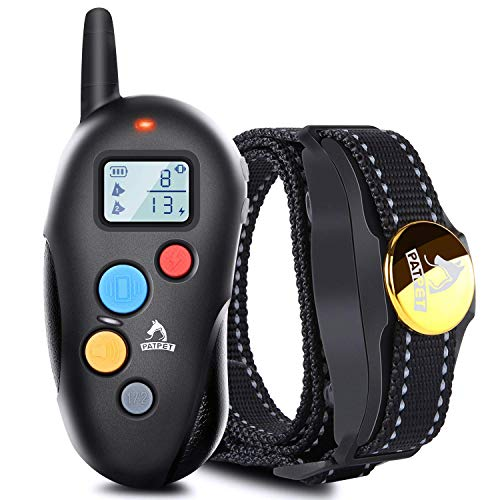 BOOCOSA-US Dog Training Collar with Remote - Rechargeable Waterproof Dog Shock Collar Receiver Training Devices with Beep Vibration Dogs Pet Trainer, Tracking Night Light, LCD Screen