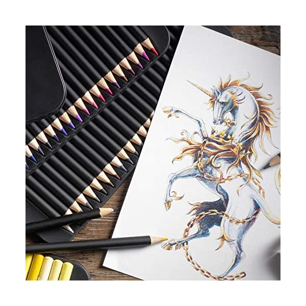 Castle Art Supplies 72 Premium Colored Pencils Set for Adults Artists | Ideal for Coloring Books Drawing Sketching… 4