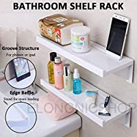Suction Cup Bathroom Kitchen Storage Shower Shelf Holder Rack Organizer Plastic