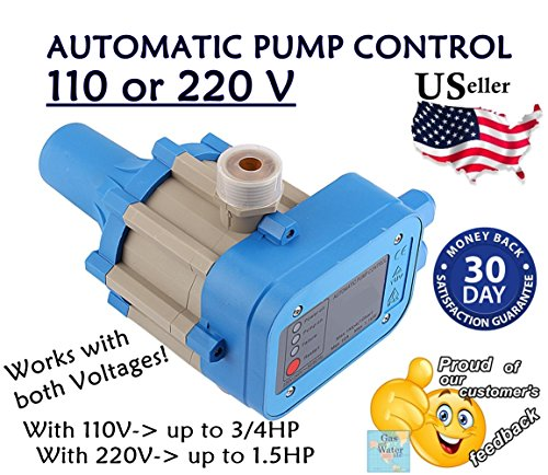 Automatic Electronic Switch Control Water Pump Pressure Controller 110 or 220V (works for both) - Automatic Pressure Water Pumps