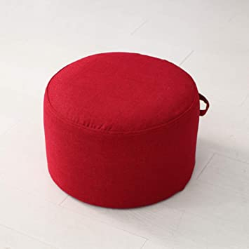CNZXCO Meditation Pillow Floor Cushion, Zafu Yoga Bolster Seat Cushioning Tatami Floor futon Cushion Oversize Thick Epe Foam Filled-red ...