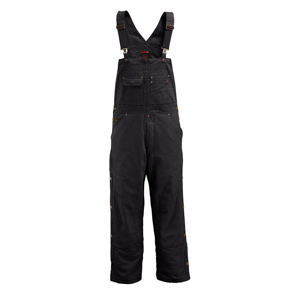 Wolverine Men's Caldwell Durable Cotton Duck Canval Insulated Bib Overall, Black, Large