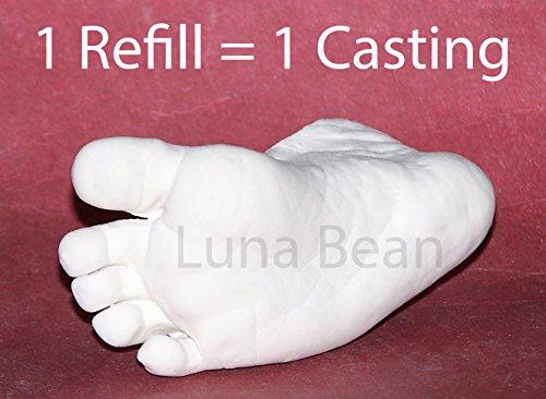 Luna Bean Infant Plaster Life Casting Kit -Refill- (Step 1 & Step 2)