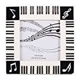 Piano Keyboard Musical Notes Treble Clef Decorative 4x4 Picture Frame