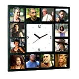 walking dead pictures - The Walking Dead Cast Zombie Killer TV Show Clock with 12 pictures