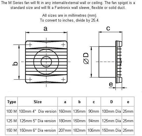 Vents 100 Silenta MT K - Ventilador extractor de baño, silencioso, con temporizador, Blanco brillante: Amazon.es: Bricolaje y herramientas