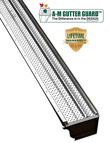 "A-M Aluminum Gutter Guard 5"" (50 Feet, Mill Finish)"