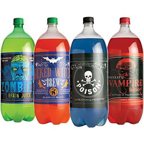 Halloween Glow In The Dark Soda Bottle Labels is one of our favorite fun camping Halloween decorations for your campsite and ideas for decorating your RV