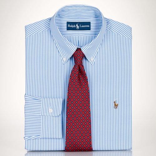 Polo Ralph Lauren Men's Slim-fit Striped Oxford Dress Shirt (17/43)