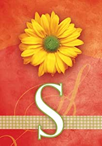 SnapDragon Flag - Yellow Daisy Monogram - S