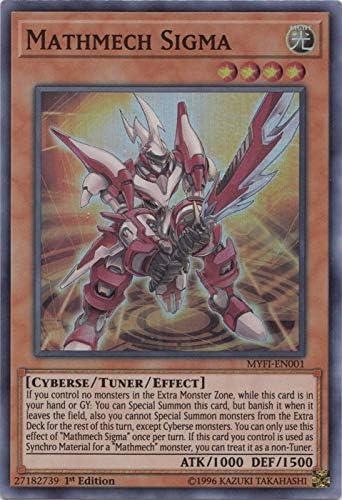 Yugioh MYFI-EN008 Geomathmech Final Sigma Secret Rare 1st Edition NM