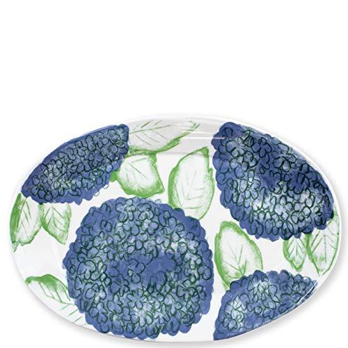 Vietri Melamine Hydrangea Oval Platter - Festive Italian Dinnerware Celebrate Oval Serving Platter