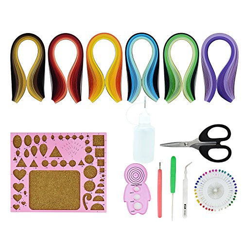 - Paper Quilling Kit Quilled Paper - Pistha 600 PCS Strips Quilling Paper in 29 Colors with 8 PCS Different Quilling Tools, Quilling Coach, Quilling Board