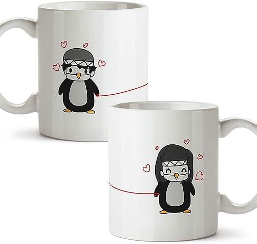 MUGFFINS (Pack 2 tazas) Tazas San Valentín - Pingüinos - Regalos ...