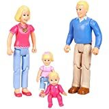 You & Me, Happy Family, Family Action Figure Set [Dad, Mom, Daughter, and Baby] Blonde Hair