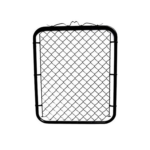 MTB Black Coated Chain Link Garden Walking Fence Gate 50-inch Overall Height by 39-inch Frame Width (Fit a 42-inch Opening), 1 Pack Chain Link Fence Walk-Through Gate