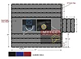 Blue Superlight 14oz Flatbed Trailer Lumber Tarp 24x27 (8' Drop)