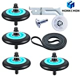 Dryer Repair Kit Compatible With Samsung Dryer Belt Maintenance Kit Include Roller DC97-16782A Indler Pulley DC93-00634A Belt 6602-001655 Replace AP5325135 AP4373659 AP6038887 PS4221885 PS4133825