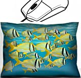 MSD Mouse Wrist Rest Office Decor Wrist Supporter Pillow design: 31194086 school of tropical fish porkfish Anisotremus virginicus near water surface Caribbean sea