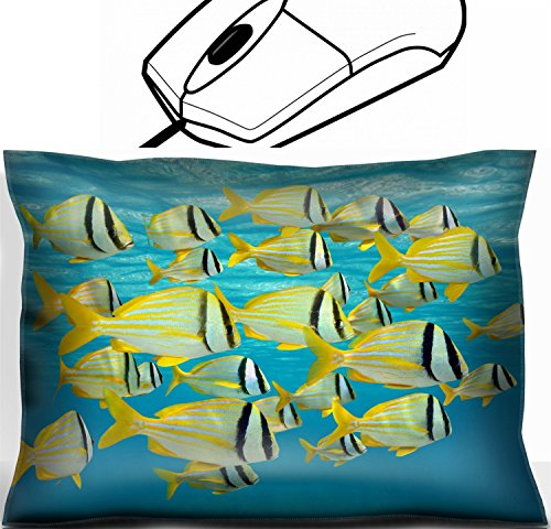 MSD Mouse Wrist Rest Office Decor Wrist Supporter Pillow design: 31194086 school of tropical fish porkfish Anisotremus virginicus near water surface Caribbean sea by MSD