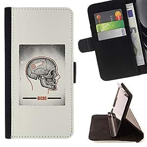 Momo Phone Case / Flip Funda de Cuero Case Cover - Cráneo gris Anatomía Cerebral Médico - Samsung Galaxy S3 III I9300