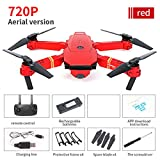 Likero E58 1080P/720P HD 2.0/5.0MP Camera WiFi FPV Foldable Quadcopter,Selfie Pocket RC Quadcopter,Stylish and Handsome Design,Best Gift for Child for Adult (A)