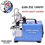 YONG HENG High Pressure Air Compressor Pump, Auto-Stop 110V 30Mpa Electric Air Pump Air Rifle PCP 4500PSI Paintball Fill Station for Fire Fighting and Diving