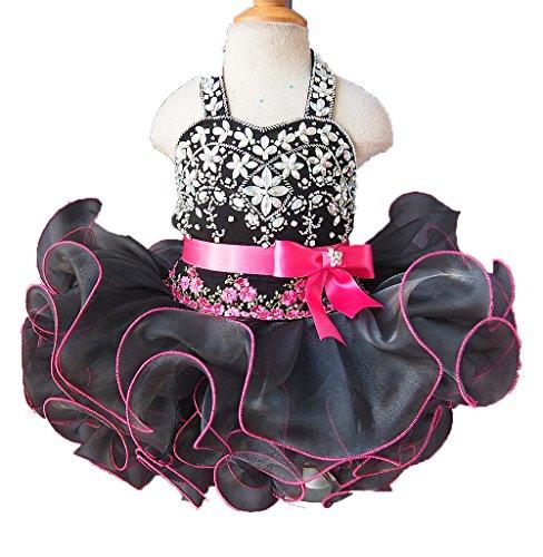 hot pink and black corset dress - 2