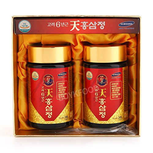(Korean 6years Root Red Ginseng Gold Extract, 240g(8.5oz) X 2ea, Saponin, Panaxs )