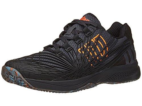Wilson Men's KAOS 2.0 SFT Tennis Shoe (Ebony/Black/Shocking Orange, 9 M US)